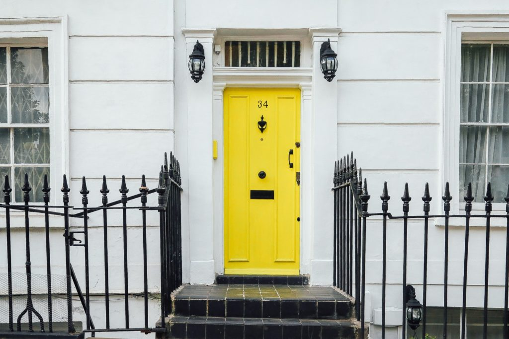 Say welcome with a vividly colored door
