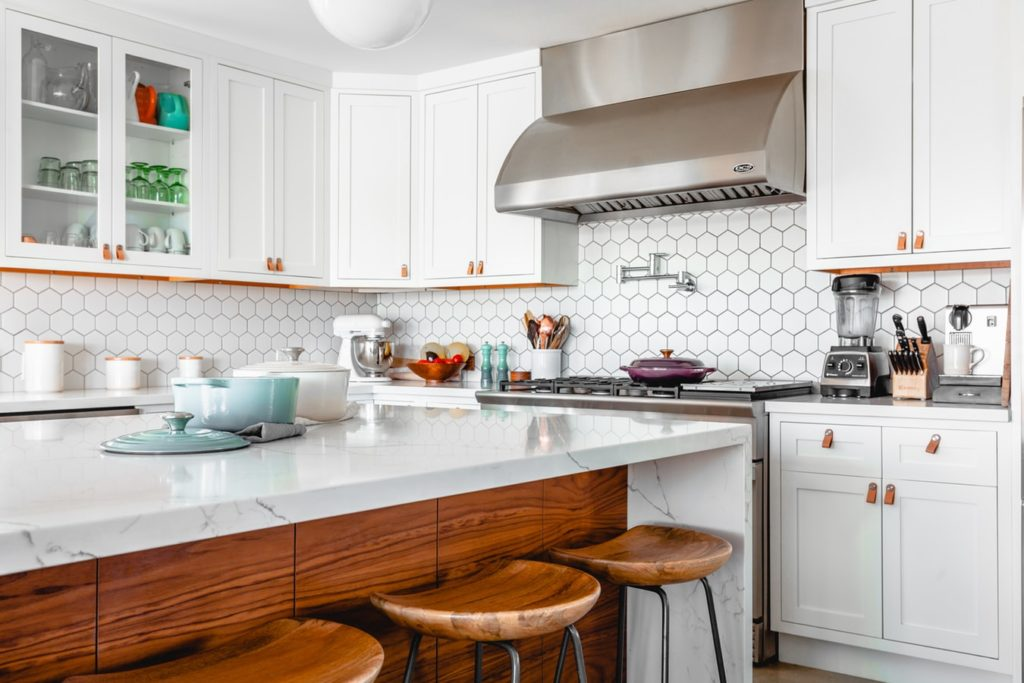 Rejuvenate kitchen by installing a marble kitchen island​