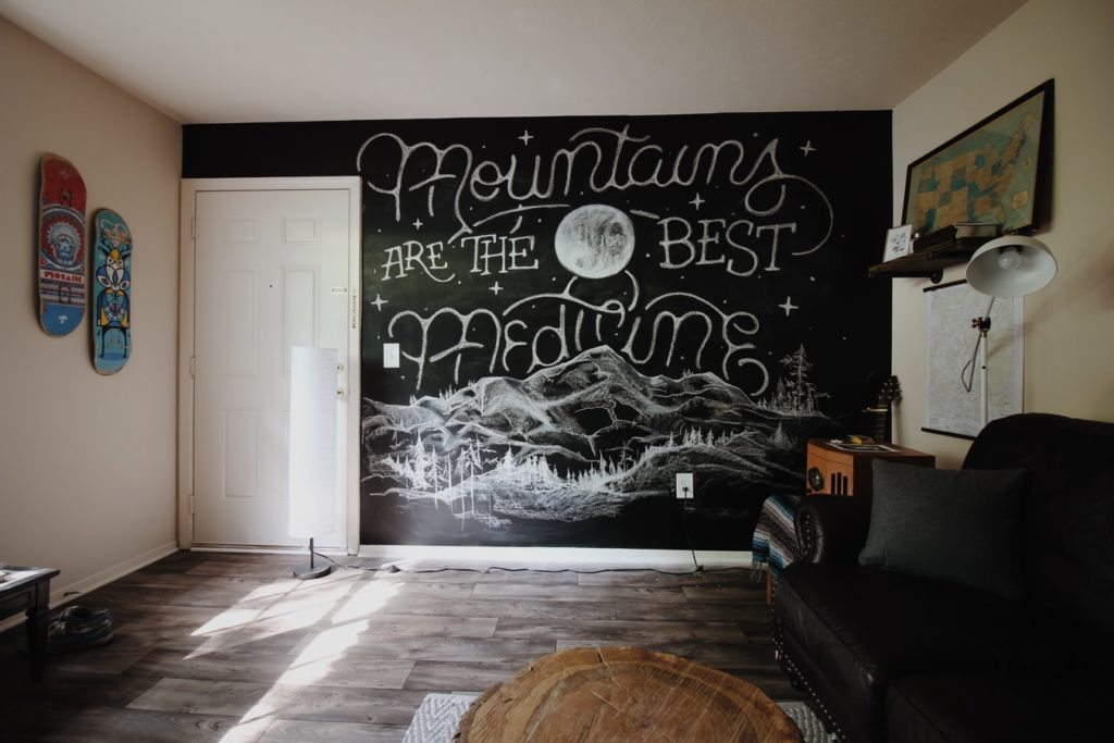 Introduce giant chalkboards​